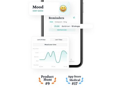 We are live! design tracker pill depression app