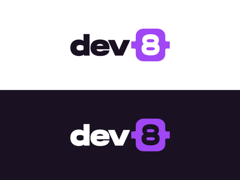 dev8.co - logo wordmark saas software modern logodesign branding logo
