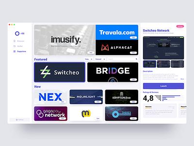 Crypto DApp Store Concept reviews store desktop app cryptocurrency wallet crypto