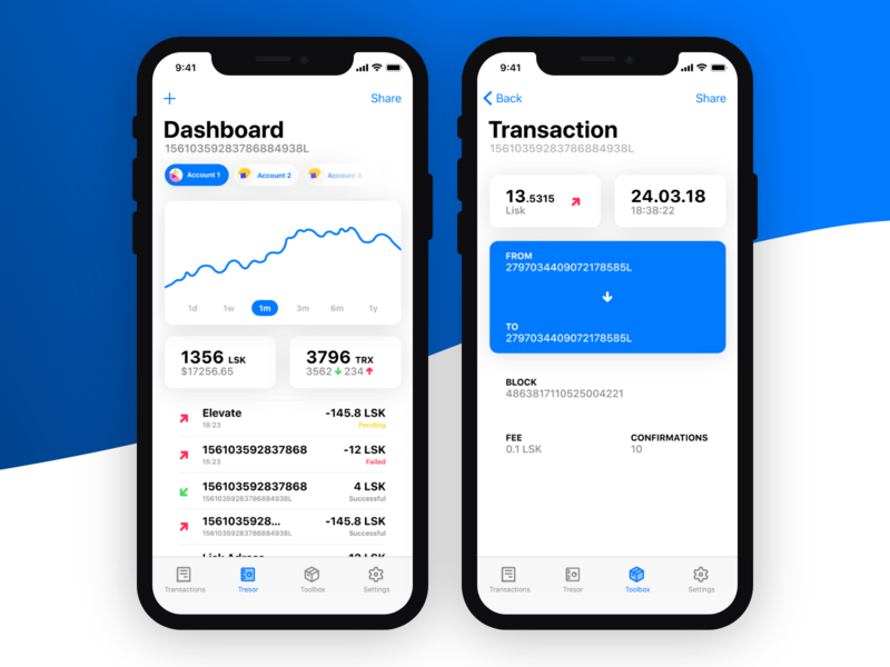 Lisk Mobile Crypto Wallet