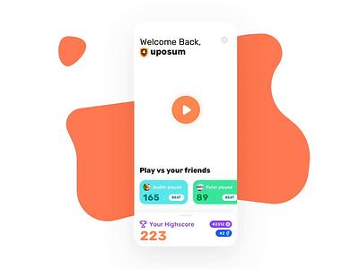 Leaderboards Interaction ui mobile app design game animation interaction game mobile