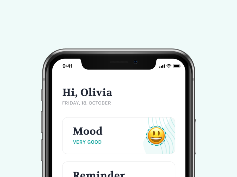 Mood Card tracker depression health mood app