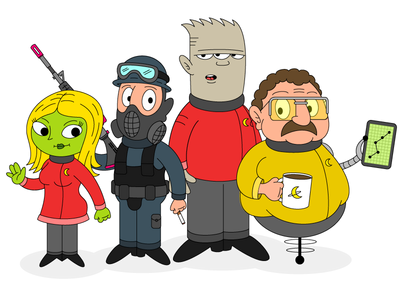 Space Show Character Designs 2/2
