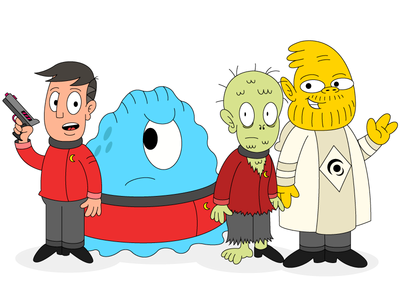 Space Show Character Designs 1/2