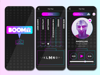 BoomBX - User Interface Mockups