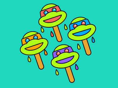 TMNT Ice Cream Icons