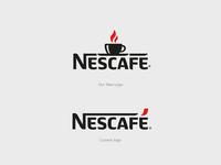 Nescafé Logo ReDesign nescafe coffee cup business coffee rebrand rebranding brand design illustration logo-design abstract lettering abodystudio brand identity design branding logo design drawing
