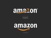 Amazon Logo ReDesign rebranding illustration logo-design brand abodystudio brand identity design branding logo logo design drawing