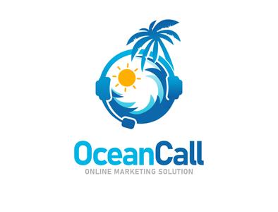 OceanCall Logo Design design art vector abstract illustration abodystudio branding brand brand identity logo design logotype