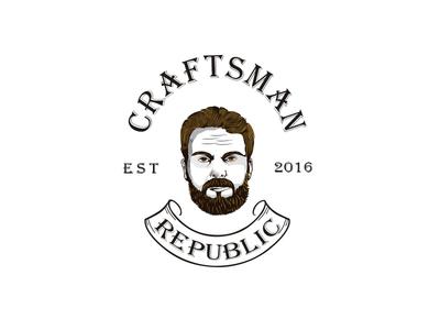 Craftsman Republic Branding  vintage logo design craftsman crafts brand identity branding