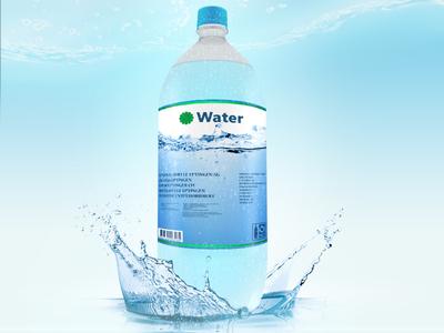 Water Bottle Mockups modelling mock-up 3d bottle