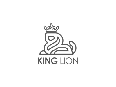 King Lion Logo lion king monoline lion logo lion brand vector brand identity abodystudio design branding logo design logo