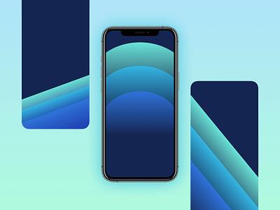 iPhone 11 BLUEISH Wallpaper graphic design iphone wallpaper