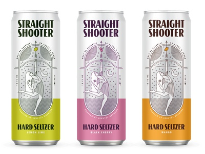 Hard Seltzer Can Concept texas arrow archer woman moon beverage hard seltzer seltzer beer can beer illustration packaging can can design alcohol