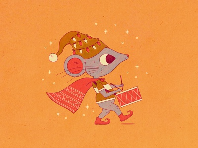 Drummer Boy illustration drummer boy drummer mouse holiday happy holidays merry christmas christmas