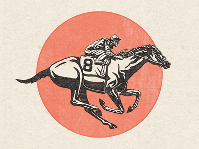 Derby Horse louisville illustration stamp horse racing churchill downs derby kentucky horse jockey