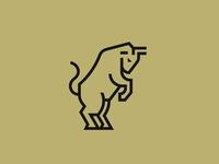 Rearing Bull Logo