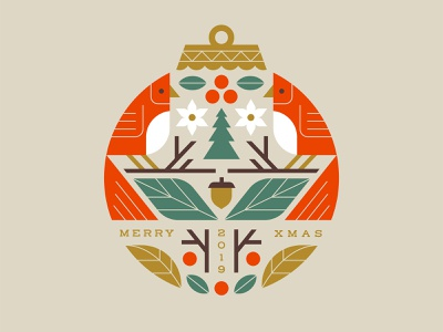 Merry Xmas illustration foliage leaves merry christmas ornament bird cardinal xmas holiday christmas