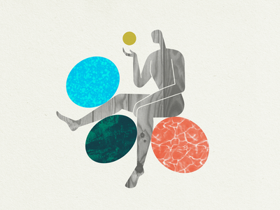 Figure & Texture illustration texture wood marble pattern shapes circles person figure human body