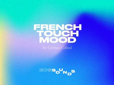 FRENCH TOUCH MOOD design vector cover playlist gradient color