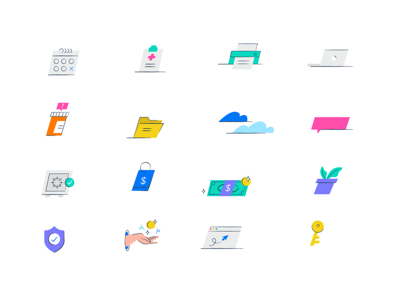 Icon Set rx ehr vector ui design app