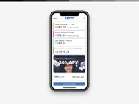 iOS personal banking app — pre-authentication view