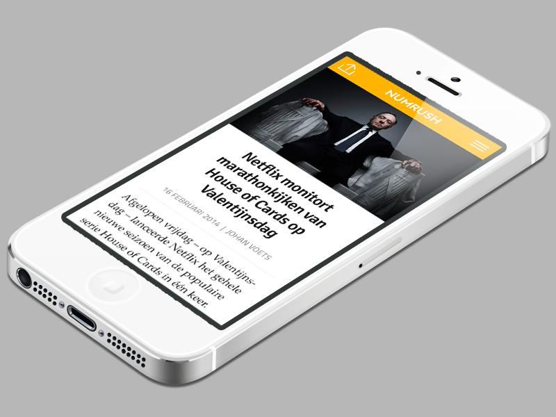 Numrush article on mobile numrush blog website media wordpress tech site journalism technology responsive homepage mobile news