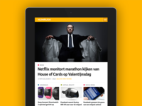Numrush homepage on iPad