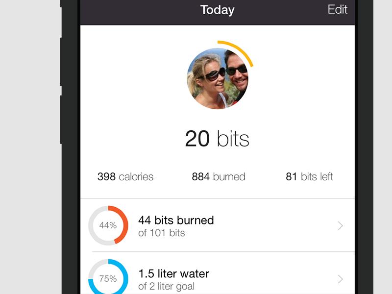 Foodzy Health Dashboard foodzy app ios iphone health dashboard infographic weight fitness