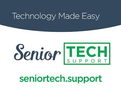 Senior Tech Support logo and biz card