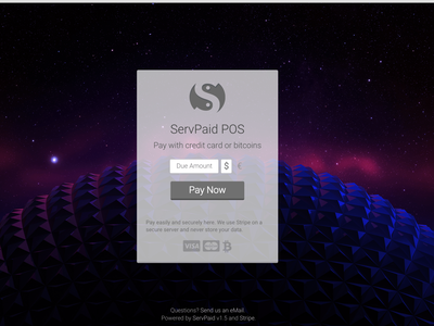 ServPaid web app payments