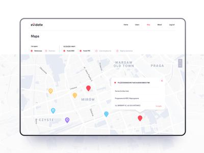 Evidate - tablet inventory app ui ux material design logo design system icons id branding identity location list iteo map animation andorid alert