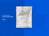 Plastic Cosmetics Bag 2 Mock-ups Files
