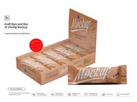 Kraft and Bars Box of 10x40g Mockup
