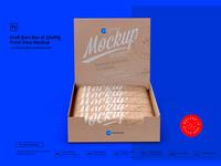 Kraft Bars Box of 10x40g Front View Mockup