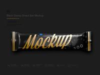 Black Glossy Snack Bar Mockup
