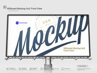 Billboard Mockup 6x3 Front View