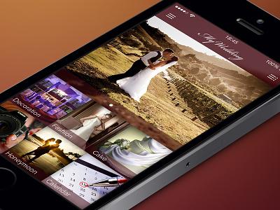 Wedding planner app - iOS7 mobile app ios ios7 iphone interface ui wedding flat
