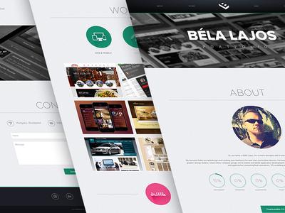 My new portfolio portfolio brand personal interface ui website logo parallax responsive works