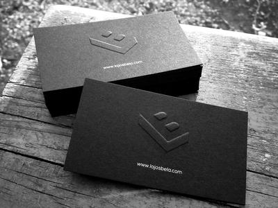 Lajos Béla - My branding business card black business card logodesign identity branding personal bracelet shirt portfolio site logo