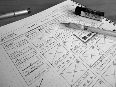 Sketch - Real estate agency website ui ux web sketch pencil wireframe real estate