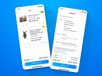 Bricklink - LEGO Marketplace app - 04 Cart & Checkout shopping app shop checkout cart mobile ui app mobile app mobile ux design ui design ux ui design uxui ui ux