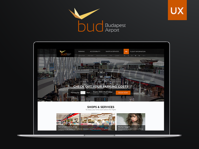 UX rethinking - Budapest Airport Website concept prototype user interface usability wireframe design rethinking website airport budapest ui ux