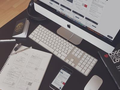 Work in progress app invision workplace sketch design ui ux
