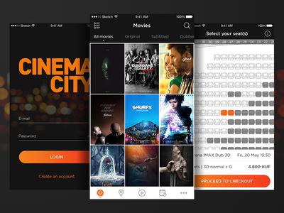 Cinema City - Movie Ticket Booking App Concept #1 cinema ios app booking ticket movie