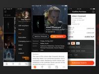 Cinema City - Movie Ticket Booking App Concept #2
