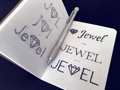 Jewel (JWL) logo exploration draw sketch exploring logotype logo design app icon logo branding
