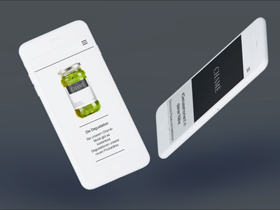 Chamé flat branding food company switzerland simple mobile grey promotion products food website