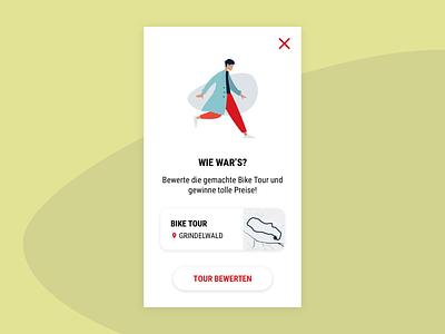 Feedback Screen vector design app branding whitespace simple materialdesign shadow switzerland sport modern illustration feedback application tracking sports