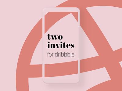 Two Dribbble Invites ✌🏻 ui mobile app member invites giveaway orange rose black simple typography logo vintage retro dribbble invitation invites invite dribbble invitation dribbble invite dribbble invites